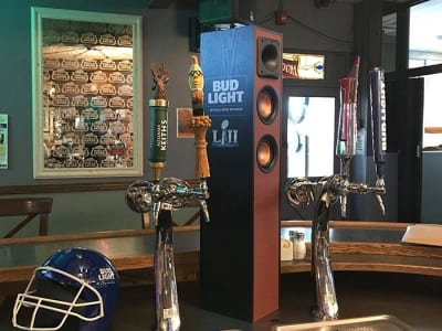Beer taps and speakers